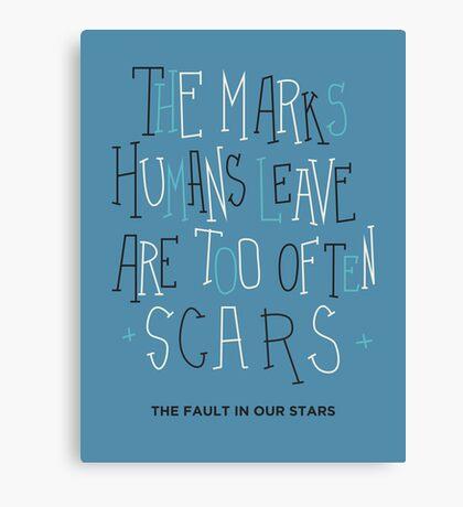 Scars Canvas Print