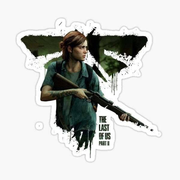 Ellie The Last of Us Part 2 Fireflies Pegatina