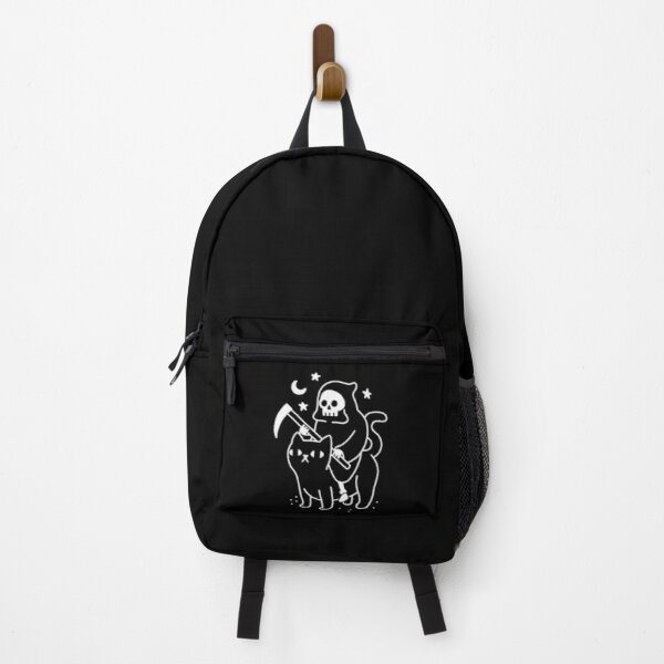 Death Rides A Black Cat Backpack