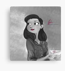 Papergirl Canvas Print
