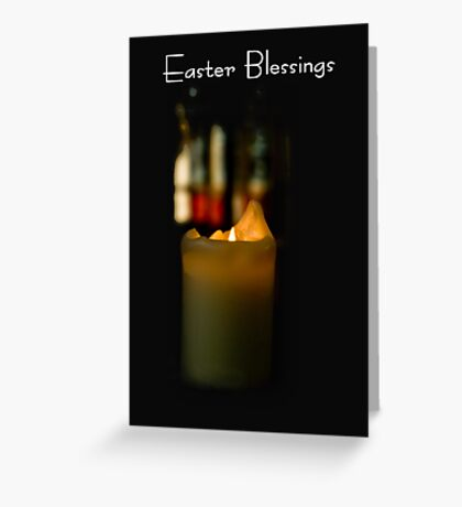 Church Candle Easter Card Greeting Card