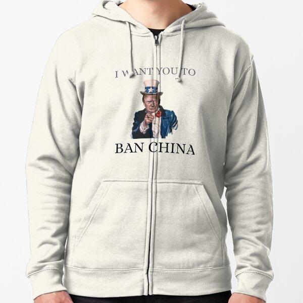 #BAN CHINA Sudadera con capucha y cremallera