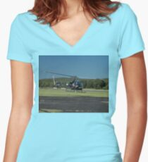 Evans Head Airshow 2010 - Bell 47 Women's Fitted V-Neck T-Shirt