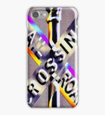 Railroad Crossing! iPhone Case/Skin