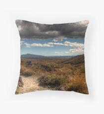 Mount Taranaki out in the Blue Throw Pillow