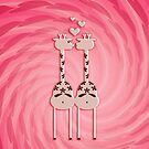 Pink Giraffe Lovers VRS2 by vivendulies