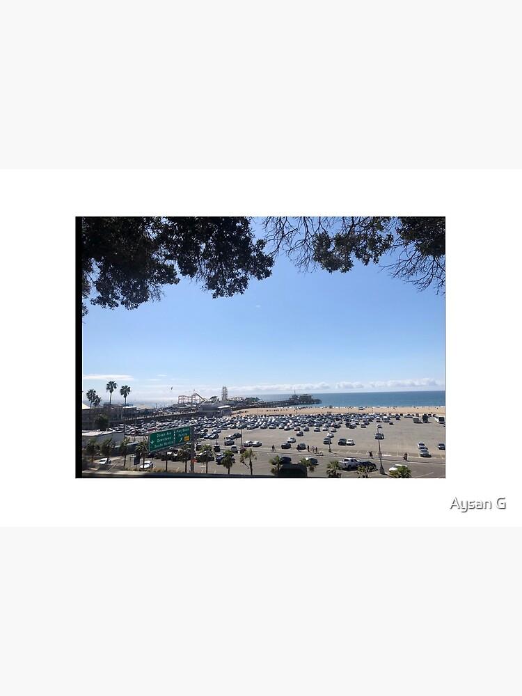 Santa Monica's pier from far  by aysangoodarzi