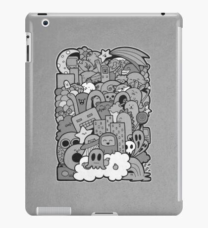 Doodleicious - Black and White iPad Case/Skin