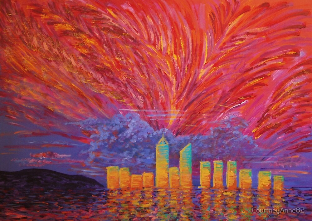 Perth Skyline, December 2007 by CourtneyAnne82