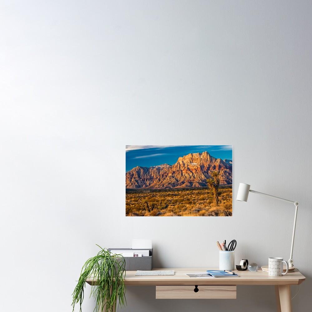 Sandstone Rainbow Mountain Poster