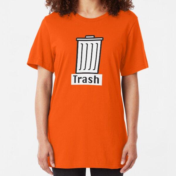 Retro Classic Mac Trash  Slim Fit T-Shirt