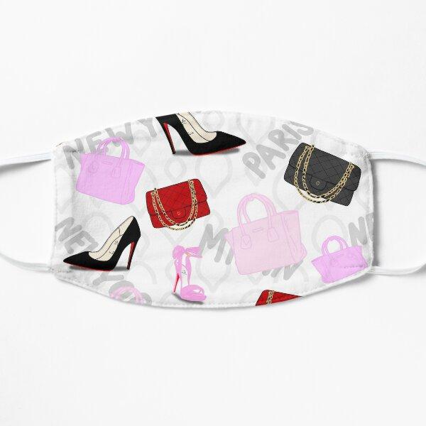 Pink designer fashion mask Flat Mask