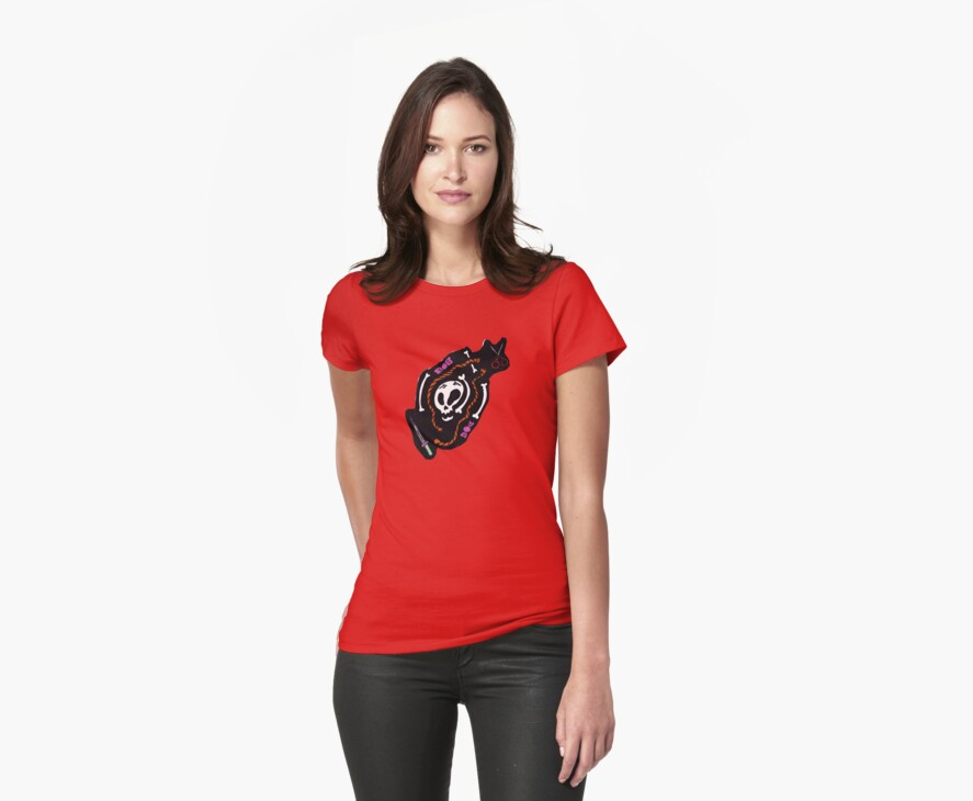 Skull Design Tee Shirt by Red Gold