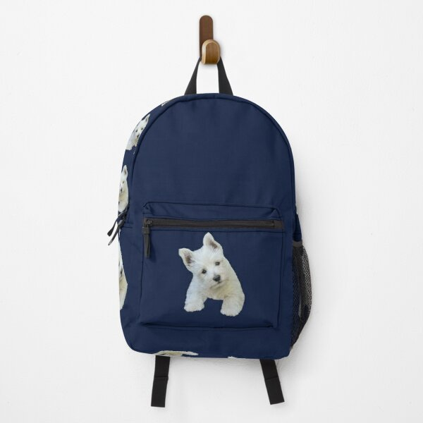 West Highland White Terrier Puppy portrait 3 Backpack