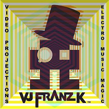 VJ Franz K - Steampunk 8bit Alien Logo by VJFranzK