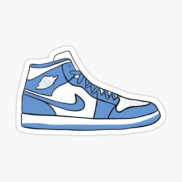 Baskets Nike Jordan bleues Sticker mignon Sticker