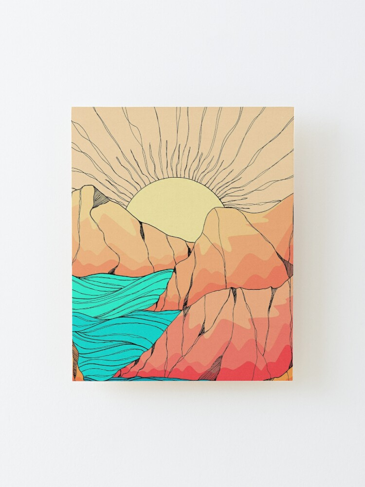Alternate view of A sunrise over the islands  Mounted Print