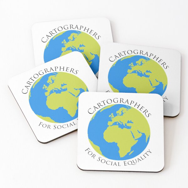 cartographers for social equality~ the west wing  Coasters (Set of 4)