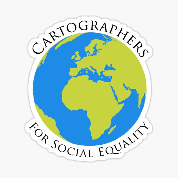 cartographers for social equality~ the west wing  Sticker