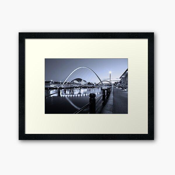 Newcastle Quayside and Millennium Bridge Framed Art Print