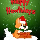 Happy Howlidays - Green w/ Text by jlechuga