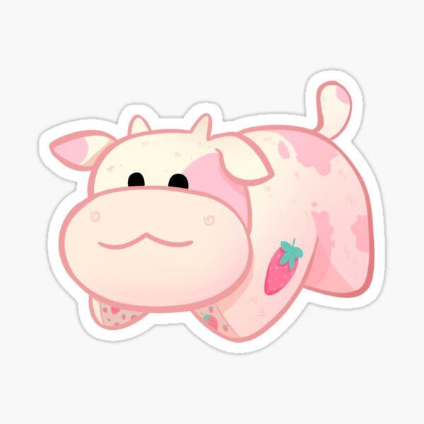Strawberry Cow Pillow Pet TikTok Cute Fanny Pack Cute Fanny Pack Cottagecore Strawberry Cow Fanny Pack Cute Pink Cow with Strawberry