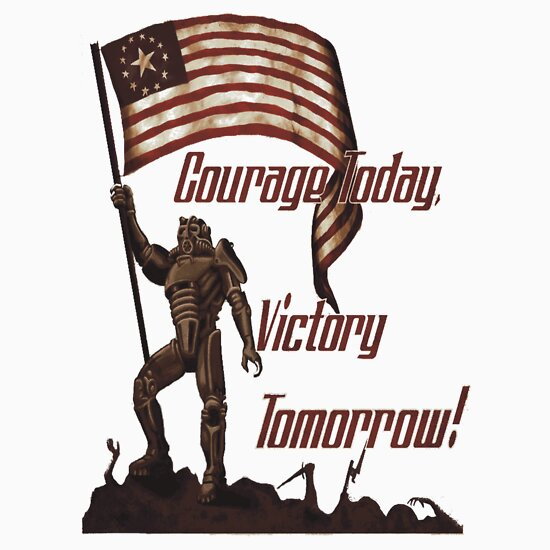 TShirtGifter presents: Courage Today Victory Tomorrow  | Unisex T-Shirt