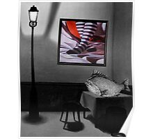 Striped With Fish Poster