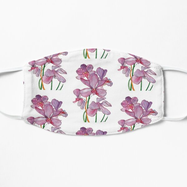 Tropical Pink Ochid Flowers Small Mask