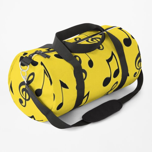 Music, art yellow  with musical notes - pop music Duffle Bag