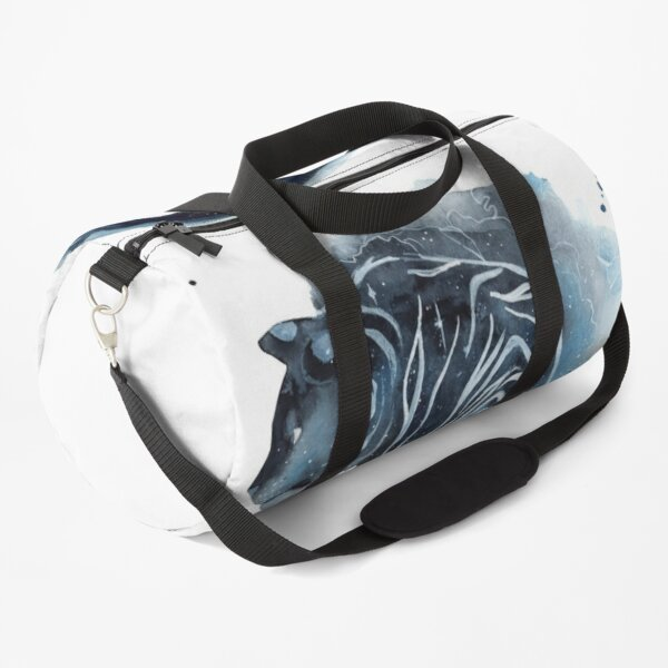 Watercolor Galaxy Tiger Duffle Bag