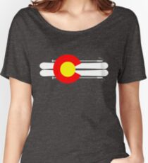 Colorado Flag Skis Women's Relaxed Fit T-Shirt