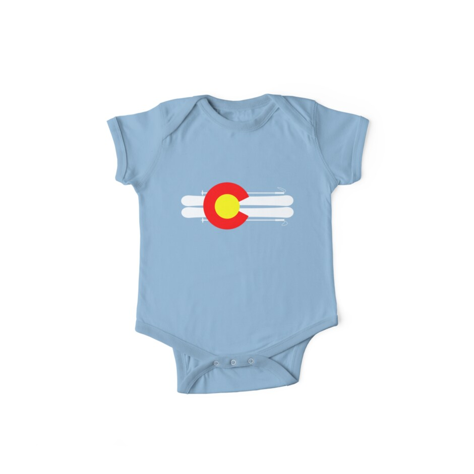 'Colorado Flag Skis' Kids Clothes by Paper Hat