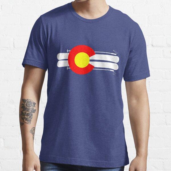 Colorado Flag Skis Essential T-Shirt