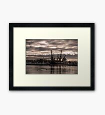 HDR Container Ship Framed Print