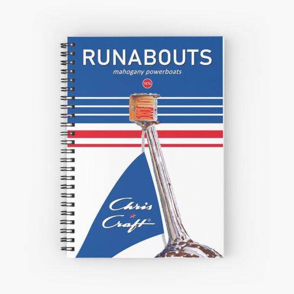 Chris Craft or Riva Aquarama Vintage Poster Spiral Notebook