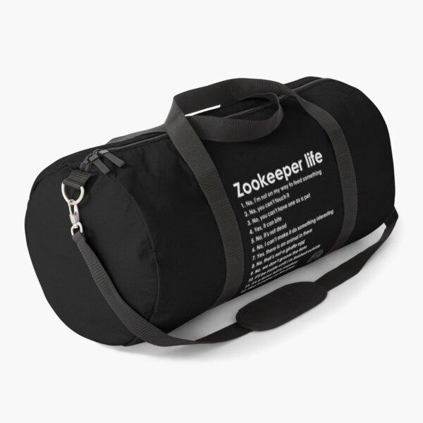 Zookeeper life - white Duffle Bag
