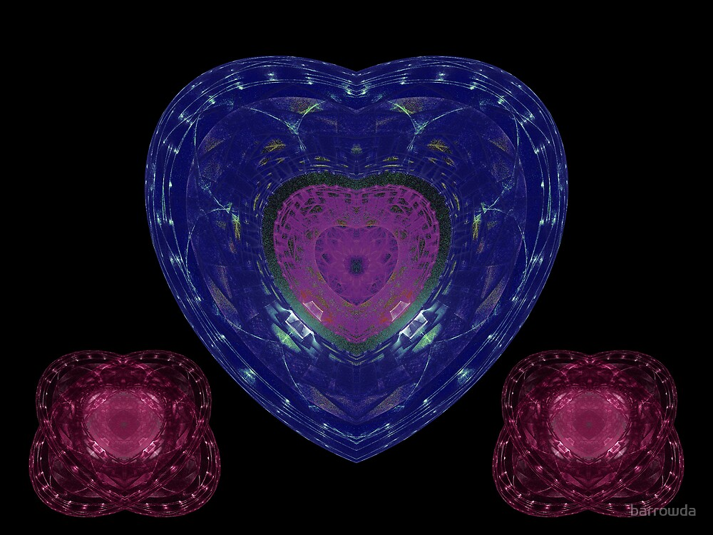 Tut55JJ#4: Rose and Azure Crystal Hearts (G1148) by barrowda