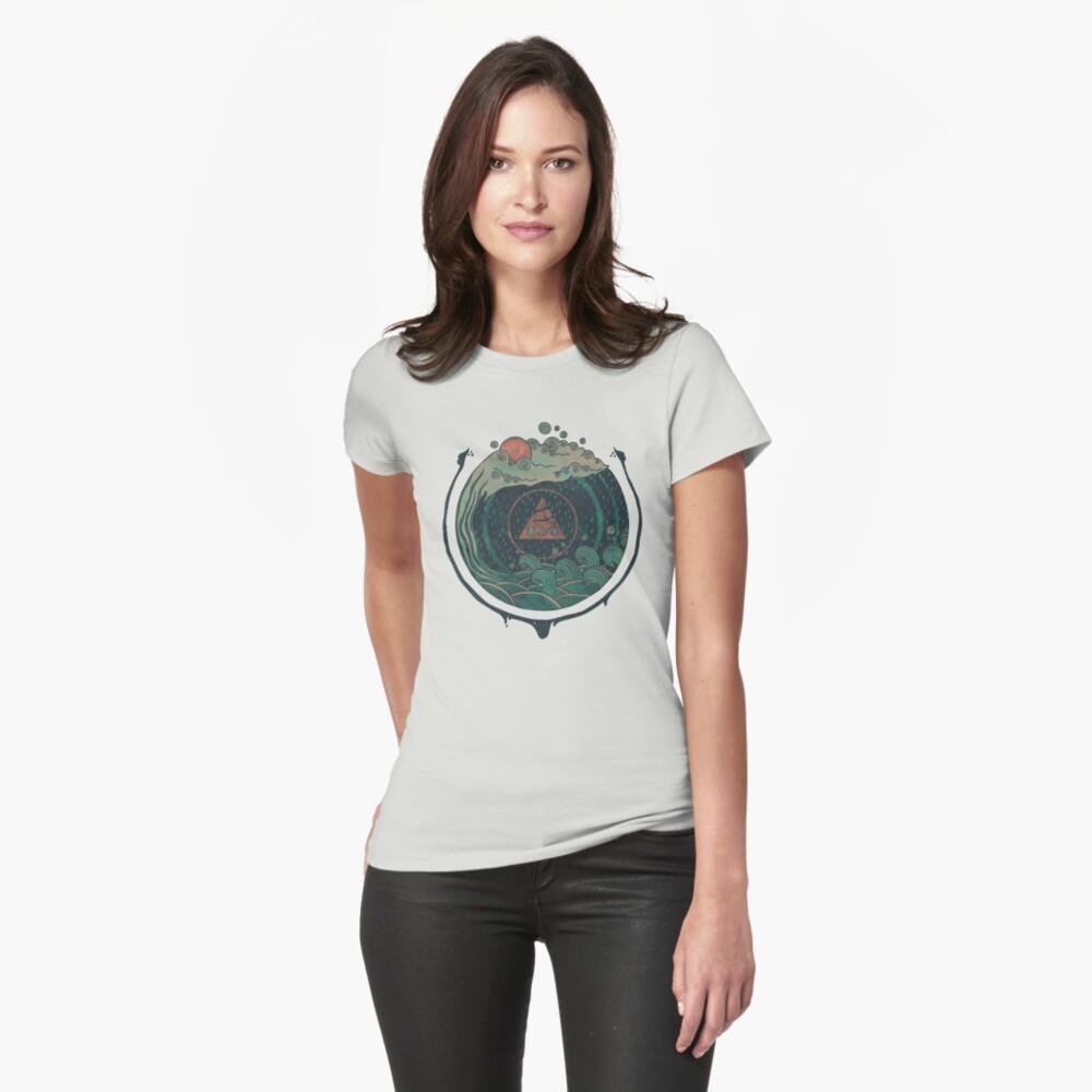 Wasser Tailliertes T-Shirt