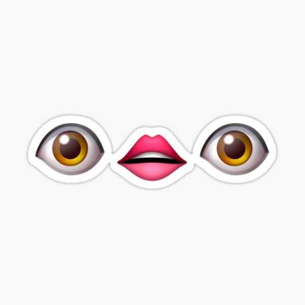 Ojos y boca Pegatina