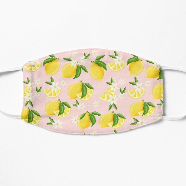 Summer Lemon Pattern Flat Mask