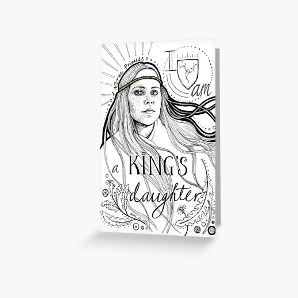 A King's Daughter Greeting Card