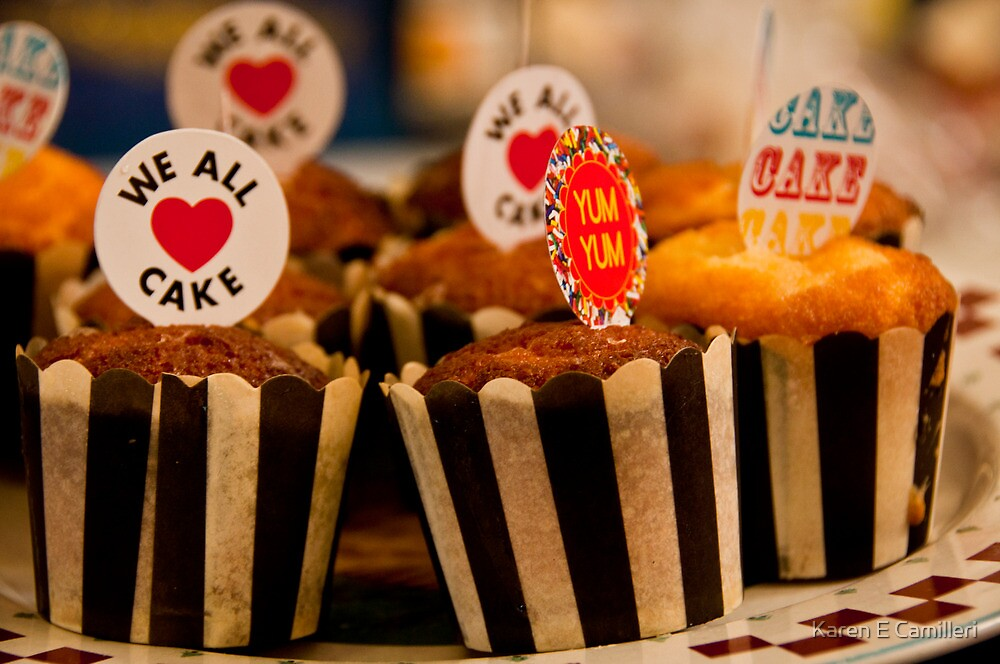 We all love cake by Karen E Camilleri