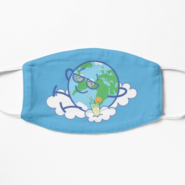 Cool planet Earth taking a well deserved break  Flat Mask
