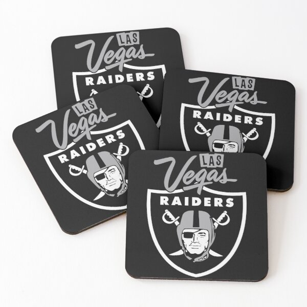 Las Vegas Raiders Logo Coasters (Set of 4)
