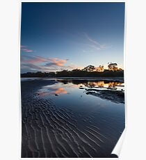 Deception Bay Sunset reflections Poster