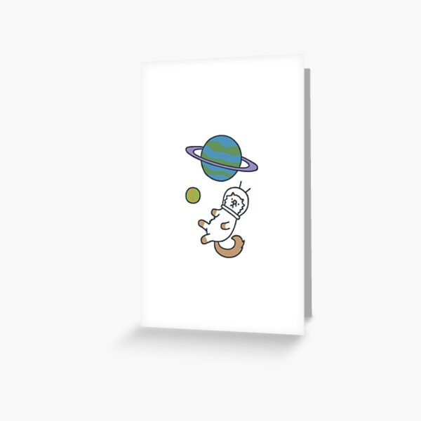 Moo in Space Greeting Card