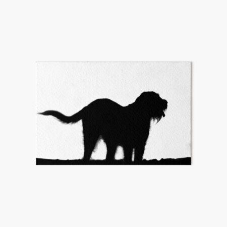 Italian Spinone Silhouette Art Board Print