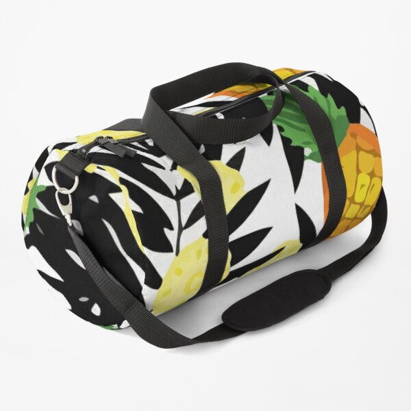 Hand colored drawn pineapple hand sketch line pattern Duffle Bag