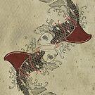 shark fin goldfish school by Vin  Zzep
